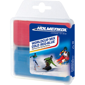 Holmenkol Worldcup Mix Cold Basis Wachs 2x35g red-blue